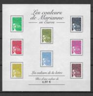 FRANCE - Yvert  Bloc N° 67 **  LES COULEURS DE MARIANNE EN EUROS - Neufs