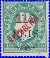Angola 1914. ~  YT 167* - 115 S. 10 C. Luis 1er - Angola