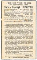 Dadizele, Moeskroen, Diksmuide, Bizet, Noordpeene, Sint-Baafs Vijve:1934, E.H. Karel-Lodewyk Dewitte (2 Scans) - Devotion Images