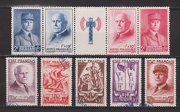 France. Oblitérés. N° 571 A Et 576/580. - Verzamelingen