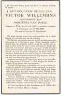 Dentergem, Tielt: 1944, Victor Willemijns (2 Scans) - Imágenes Religiosas
