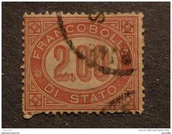 """ITALIA Regno -1875- """"Servizio Di Stato"""" £. 2,00 US° (descrizione) - 1861-78 Vittorio Emanuele II"""