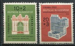 Germany Mi# 171-2 Ungebraucht Falz/MH - Buildings, Stamp Exhibition - Nuovi