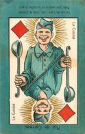 Jeu De BELOTE , Cartes à Jouer Du POILU ( 1914-1918)  :  Roi  De Carreau - Carte Da Gioco