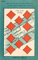 JEU DE BELOTE  : Carte à Jouer Du POILU ( 1914-1918)  : 10 De Carreau - Carte Da Gioco