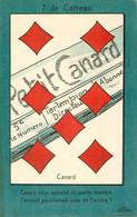 JEU DE BELOTE  : Carte à Jouer Du POILU ( 1914-1918)  : 7  De Carreau - Carte Da Gioco