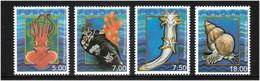 Faroe Islands 2002 Molluscs   Mi  417-420 MNH(**) - Faeroër