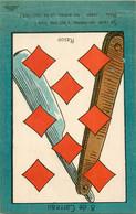 JEU DE BELOTE  : Carte à Jouer Du POILU ( 1914-1918)  : 8 De Carreau - Carte Da Gioco