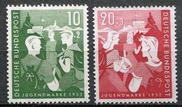 Germany Mi# 153-4 Ungebraucht Falz/MH - Youth Stamps - Nuovi