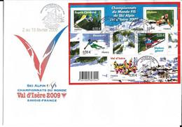 CHAMPIONNATS DU MONDE SKI ALPIN VAL D'ISERE FIS 2009 - ENVELOPPE PREMIER JOUR - FDC - ALPINE SKIING - Sci
