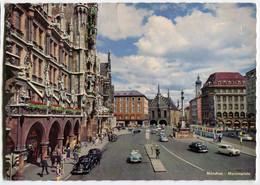 Tram/Strassenbahn München,Marienplatz,VW Käfer,Renault R4,Skoda Oktavia Cabrio, Gelaufen - Tramways