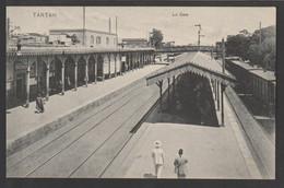 Egypt - Rare - Vintage Post Card - TANTA - The Train Station - 1866-1914 Khedivate Of Egypt