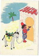 âne ânier Burguiere Barré Dayez  1950 Superbe - Esel