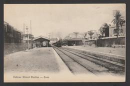 Egypt - Rare - Vintage Post Card - SUEZ - The Train Station - 1866-1914 Khedivate Of Egypt