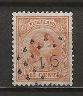 PAYS-BAS: Obl., N° 39, Oblitération Losange 91, Dts 12 1/2, TB - Gebraucht