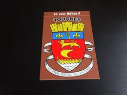 Blason écusson Adhésif Autocollant Touques Normandie  Lion Nef Aufkleber Wappen Stickercoat Arms Adhesivo Adesivo Stemma - Oggetti 'Ricordo Di'