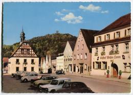 VW Käfer,1500,DKW 1000,Fiat 1500,Pegnitz,Blick Auf Schloßberg, Ungelaufen - Passenger Cars