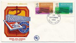 NOUVELLE HÉBRIDES - Enveloppe FDC - 25c Et 60c - Nouveau Bâtiment Du Siège OMS - Port Vila - 20 Septembre 1966 - FDC