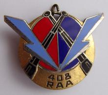 Insigne Militaire ARTILLERIE 408 ème RAA ALGERIE - Esercito