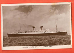 ROH3-33 Cunard White Star S.S. Mauretania. Used In 1909, Stamp Damaged - Dampfer