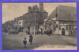 Carte Postale 50. Coutances  Palace Cinéma  Place Milon  Très Beau Plan - Coutances
