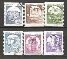 ITALIA - 1988 Serie Ordinaria CASTELLI In Bobine Per Macchine Distributrici 6v. Usato - 1981-90: Usados