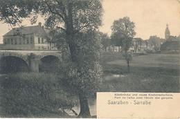 SAARALBEN - N° 3 - PONT DE L'ALBE AVEC L'ECOLE DE GARCONS - Sarralbe