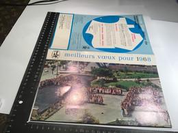 Calendrier Meilleurs Vœux Pour 1968  Massif Belledone Lac Du Barrage De Verdun Au Printemps Le Perreon En Beaujolais - Calendari