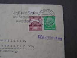 DR Cv, Dresden Nach Böhmen Möhren , Mährisch Schönberg  1938 - Used Stamps