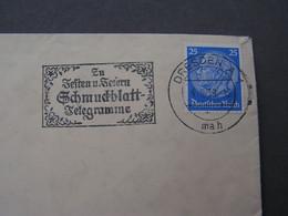 DR Cv, Dresden Nach Böhmen Möhren , Mährisch Schönberg  1938  SST Telegramme - Used Stamps