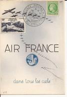 CARTE POSTALE MUSEE POSTAL AIR-FRANCE DANS TOUS LES CIELS 1948 - Lettres & Documents