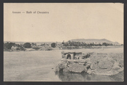 Egypt - Rare - Vintage Post Card - ASWAN - Bath Of Cleopatra - 1866-1914 Khedivate Of Egypt