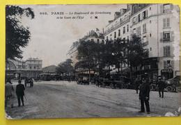 CPA - PARIS 10e - Le Boulevard De Strasbourg Et La Gare De L'Est (Agent De La Circulation, Automobiles, Charrettes) - Stations, Underground