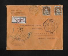 1915 HEIMAT SOLOTHURN → Wert-Brief Oberbuchsiten (Hablitzel & Co) Nach Todtnauberg DE ►Überwachungsstelle Freiburg I.B.◄ - Lettres & Documents