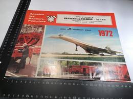 Calendrier 1972 Centre De Secours Grangessur Vologne Sapeurs-pompiers Avec Nos Meilleurs Vœux - Calendari