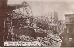 EVENEMENT Event ( Militaria Catastrophe ) PARIS 11/03/1918 RAID Des GOTHAS (Bombardiers Allemands) Fbg Du Temple CPA - Rampen