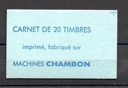 CARNET MACHINES CHAMBON - AVEC CROIX DE REPÈRE - SANS TRACE DE BANDE COLLANTE - Ensayos