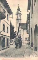 Samedan Samaden Dorfstrasse Mit Kutsche, Region Maloja Kanton Graubünden Um 1910 - GR Graubünden