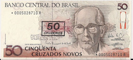 BRAZIL=N/D   50  CRUZADOS   O/P Star Note   P-223     UNC - Brazil