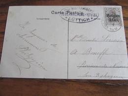 14-18: Carte Vue De Chèvremont Affranchie à 3 Cent Et Oblitérée VAUX-SOUS-CHEVREMONT En 1917 (+ Censure De Liège) - Guerra '14-'18