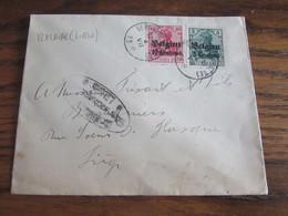 14-18: Lettre Affranchie à 15 Centimes (10+5) Et Oblitérée VERLAINE (LIEGE) (postal) En 1916.  (+ Censure De Liège) - Andere Brieven