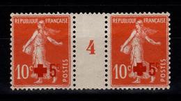 Millesime - YV 146 N** Luxe Paire Millesime 4 De 1904 , Semeuse Croix Rouge Cote 35 Euros - Millésime
