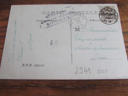 14-18: Carte Fantaisie Affranchie à 3 Cent Et Oblitérée ROEULX (LE) (postal) En 1918 (+ Censure De Soignies) - Guerra '14-'18
