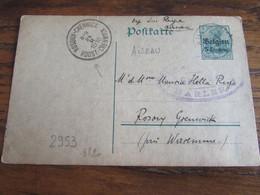 14-18: Entier Postal Affranchi à 5 Centimes Et Oblitéré AISEAU (postal) En 1916 Pour ROSOUX-CRENWICK (bilingue) - Andere Brieven