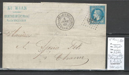 France  - GC 889 - La Chapelle Sous Rougemont + BM De SENTHEIM -1869 - Haut Rhin - 1849-1876: Klassik