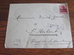 14-18: Lettre Affranchie à 10 Centimes Oblitérée VIRTON (à Pont).Censure De Liège - Andere Brieven