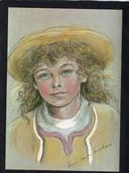 COSTUME Enfant Bretons Jeune Garçon D'Elven (Morbihan) PAR MARIE-CLAUDE MONCHAUX CPM  Impeccable  Signée - Costumi
