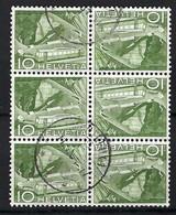 SUISSE 1949:  Bloc De 6 Comportant 3 Paires ZNr. K42, Obl. CAD - Se-Tenant