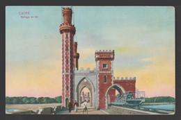 Egypt - Rare - Vintage Post Card - Nile Dam - 1866-1914 Khedivate Of Egypt