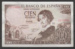 ESPAÑA BILLETE DE 100 Pts. AÑO 1965  EN MUS BUEN ESTADO CUASI PLANCHA (V.T) - [ 3] 1936-1975: Regime Van Franco